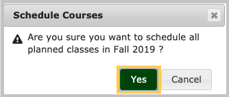 schedule course pop-up menu