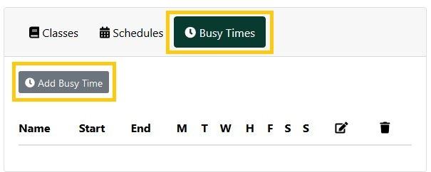 Add busy times window